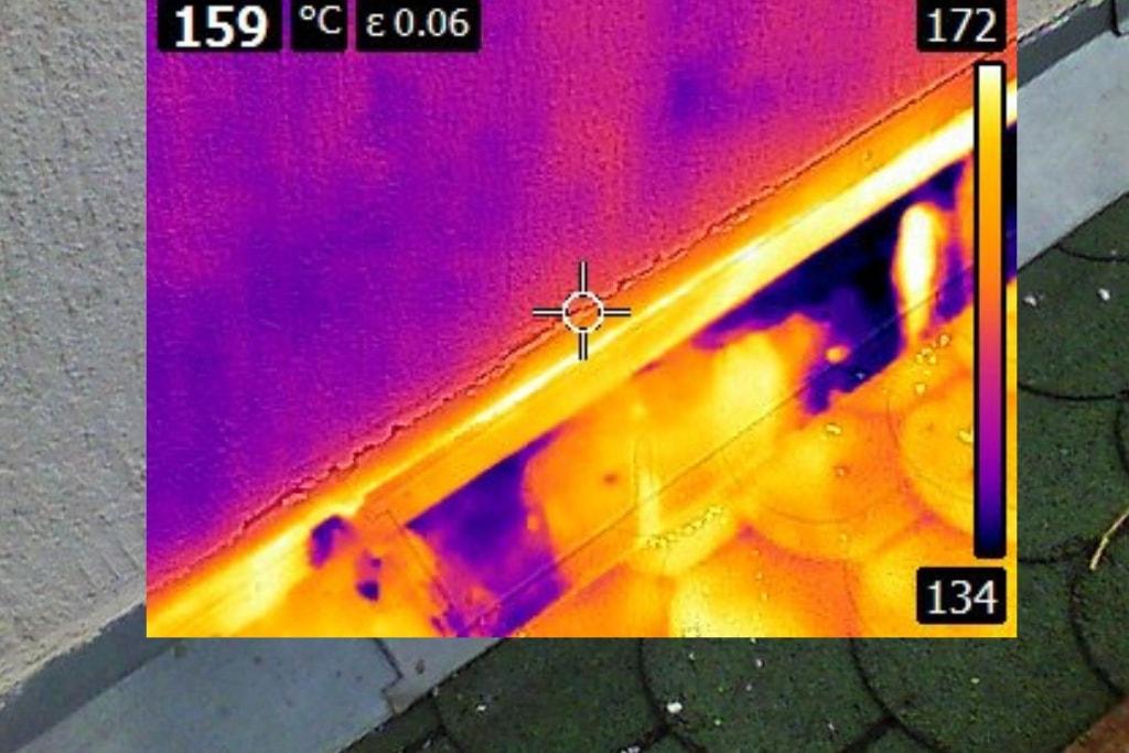 откриване на теч от покрив